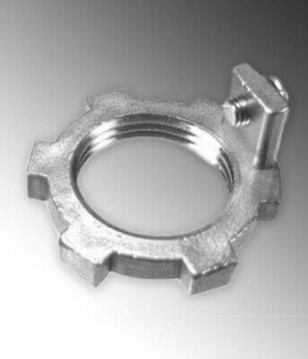 "Lot of 7 CalBrite Heavy Grounding Lock Nut 1//2/"" Rigid Conduit Stainless Steel"