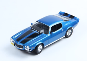 Maisto-1-18-1971-Chevrolet-Camaro-Diecast-Model-Sport-Racing-Car-NEW-IN-BOX-Blue
