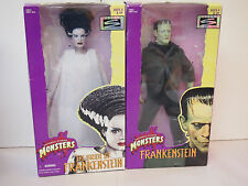 "MONSTERS - THE BRIDE OF FRANKENSTEIN & FRANKENSEIN 12"" ACTION FIGURE S - 1998"