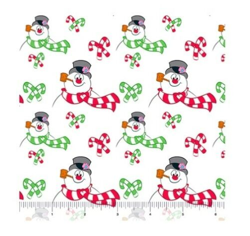 Frosty Snowman Allover White QT Quilting Treasures YARD Christmas Fabric