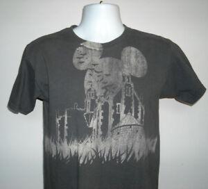 Walt Disney World Halloween T Shirts.Mens Walt Disney World Haunted House Mickey Mouse Moon T Shirt