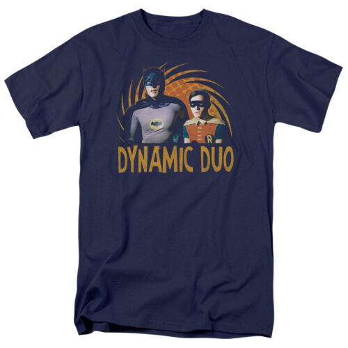 Batman 60/'s TV Show DYNAMIC DUO Robin Licensed Adult T-Shirt All Sizes