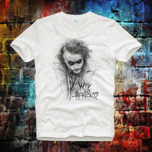Joker Sketch Gotham Why So Serious Tee Top UnisexLadies T Shirt B75