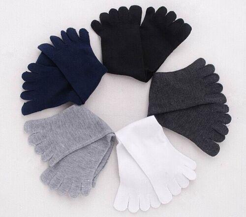 Men Women Solid Socks Unisex Pure Cotton Toe Socks Sports Long Five Finger Socks