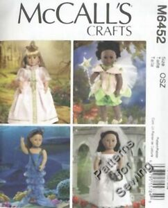 Pattern-McCalls-Sewing-18-034-inch-Girl-Doll-Clothes-Princess-Fairy-Bride-NEW