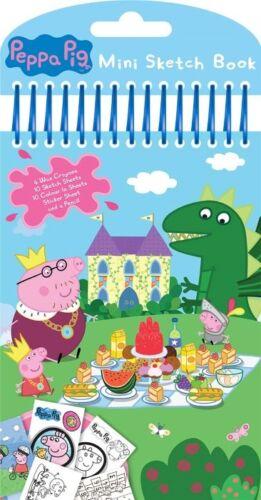 Peppa Pig Mini Sketch Book Set//Cumpleaños Fiesta Botín Pegatinas