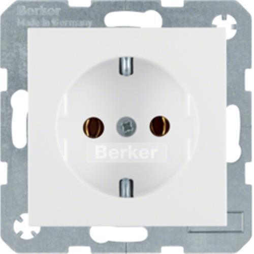 matt BERKER 47431909 Steckdose SCHUKO Berker S.1//B.3//B.7 pola rweiß
