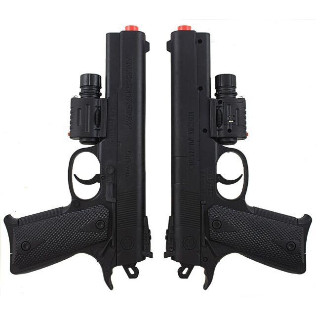 Toy Gun Airsoft Spring Powered Pistol Tactical Flashlight Sight Laser Light