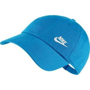 Nike Heritage 86 Futura Women s Cap   Hat NEW BLUE Adjustable ... 8dd76785d9da