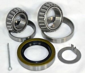 "2,000 lb.Trailer Bearing Kit L44649//10 L44649//10 Bearings 12192TB 1.25/"" Seal"