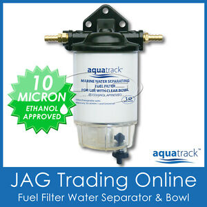 CLEAR-BOWL-FUEL-FILTER-WATER-SEPARATOR-KIT-DRAIN-Boat-Marine-Outboard-Inboard