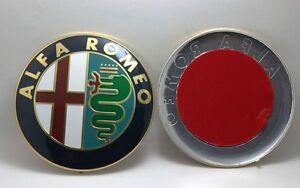 Alfa Romeo Emblem Badge 74mm 2pcs for 147 156 159 166 Mito Giulietta Spider GT