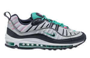 Details about Nike Air Max 98 South Beach Tidal Wave 15 Pure Platinum Obsidian 640744 005