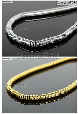 Hematite Gemstone 1mm 2mm 3mm 4mm 6mm Heishi Beads 16'' Metallic Silver Gold