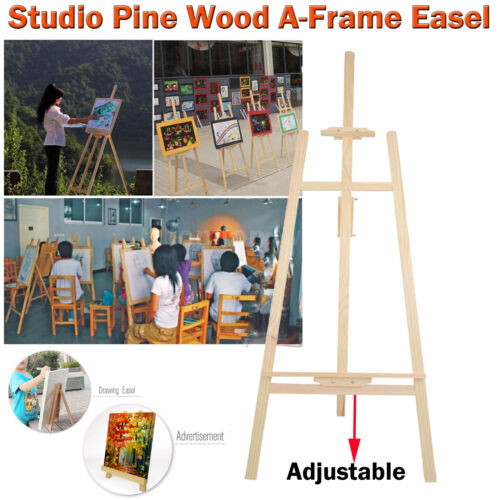 PINE WOOD Wooden STUDIO EASEL 5ft 1500MM HIGH ARTIST ART CRAFT DISPLAY