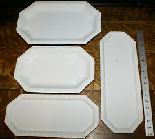 "4 Rosenthal China Maria White Long Serving Platters  * 17""  15""  14""  12.5"""