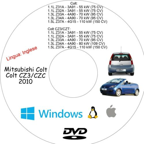 Manuale Officina MITSUBISHI COLT Assistenza Riparazione e Manutenzione