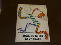 1958 KENT STATE AT BOWLING GREEN COLLEGE FOOTBALL PROGRAM EX-MINT