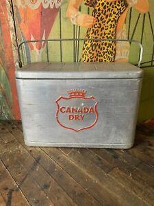 VINTAGE-CANADA-DRY-WAFFLE-TOP-COOLER-SIGN-COCA-COLA-7UP-PEPSI-ORANGE-CRUSH-DP