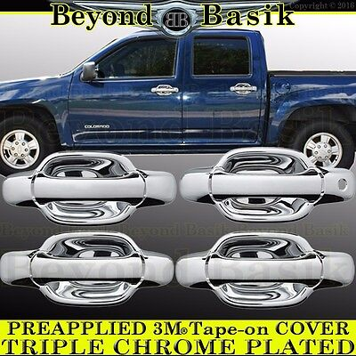 For 2004~2012 CHEVY COLORADO GMC CANYON Chrome 4 door Handle tailgate cover