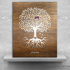 (LT-1370) Personalized 6th Anniversary Personalized Wedding Tree Faux Wood Mi...