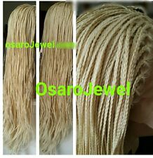 platinum   blonde micro neat small box braided  lace front wig. Human hair blend