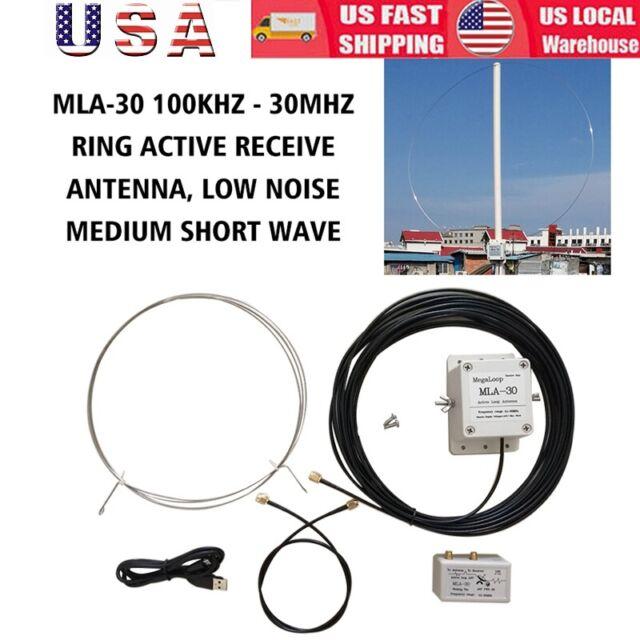 100kHz-30MHz MLA-30 Loop Antenna Active Receiving Antenna for Short Wave  Radio