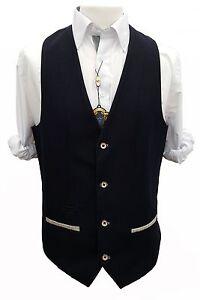 Hombre-Marc-Darcy-Formal-Elegante-Chaleco-Estilo-Will-Azul-Oscuro