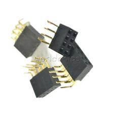 20pcs 2x4pin Header Right Angle Female Double Row Socket Connector 254mm Pitch