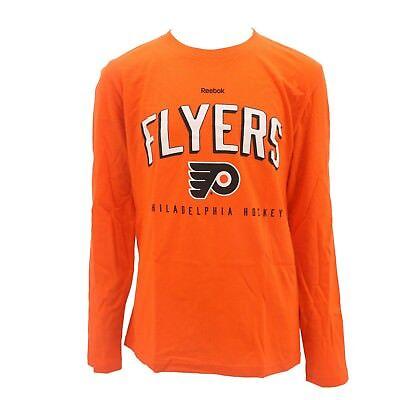 Reebok NHL Men/'s Philadelphia Flyers Locker Room Ultimate Long Sleeve Shirt