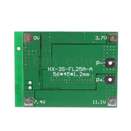 3S 11.1V 12.6V 25A W//Balance 18650 Li-ion Lithium Battery PCB Protection Board