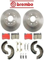 Mercedes W115 220 1968-1973 Rear Disc Brake Rotors Pads & Shoes Kit Brembo on sale
