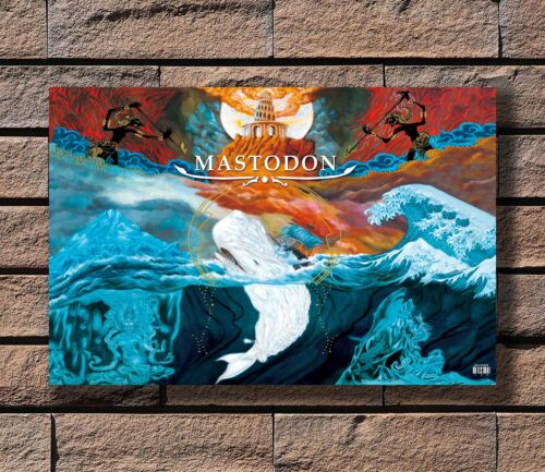mastodon rock band Poster Fabric 8x12 20x30 24x36 E-117