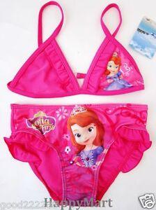 78d21b0340 New Disney Princess Sofia the First Girls Swimsuits Bikini Tankini ...