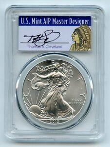 2012 $1 American Silver Eagle Dollar 1oz PCGS MS70 Thomas Cleveland Native