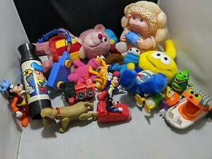 Vintage-toy-lot-care-bears-snorks-cabbage-patch-Ghostbuster-Disney-sesame-st