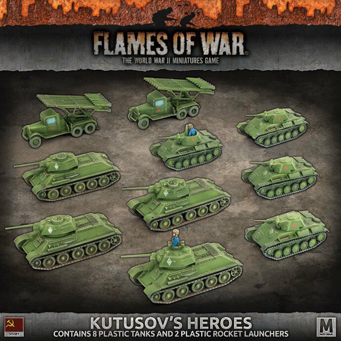 BATTLEFRONT MINIATURES FLAMES OF WAR KUTUSOV'S HEROES SUAB10 BNIB