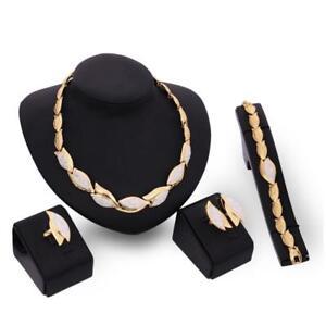 4pcs-hochzeit-wird-crystal-strass-halskette-armband-schmuck-ohrringe-ring-KS