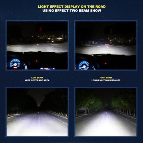 5202 9009 PSX24W 1965W 294750LM H16 6500K Xenon White LED Fog Lights Bulbs Kit