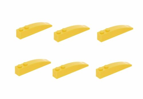 Lego ® 6x oblique Pierre Slope Curved 1x6 jaune 42022 4160392