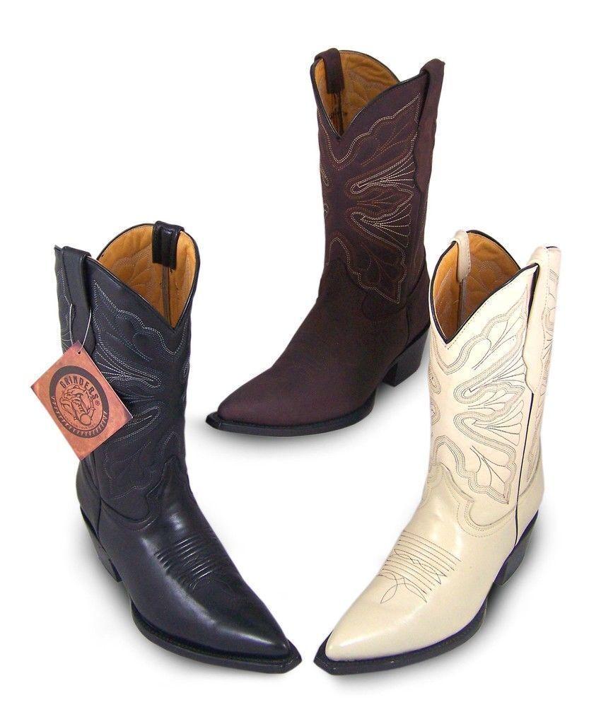 Grinders Dallas Cowboy Western Donna Stivali in Pelle