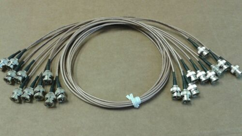 75 ohm 10 pack  Belden  RG-179  Coaxial cable BNC Male to BNC Male 4 ft