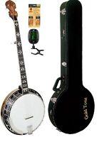 Gold Tone Model Ob-250 Orange Blossom Banjo + Electronic Tuner & Polish Kit on Sale