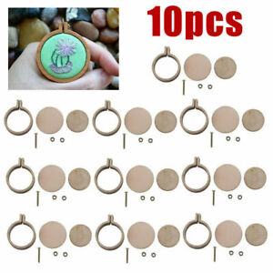 10-Sets-Mini-Embroidery-Hoop-Ring-Wooden-Cross-Stitch-Frame-For-Hand-Crafts-DIY
