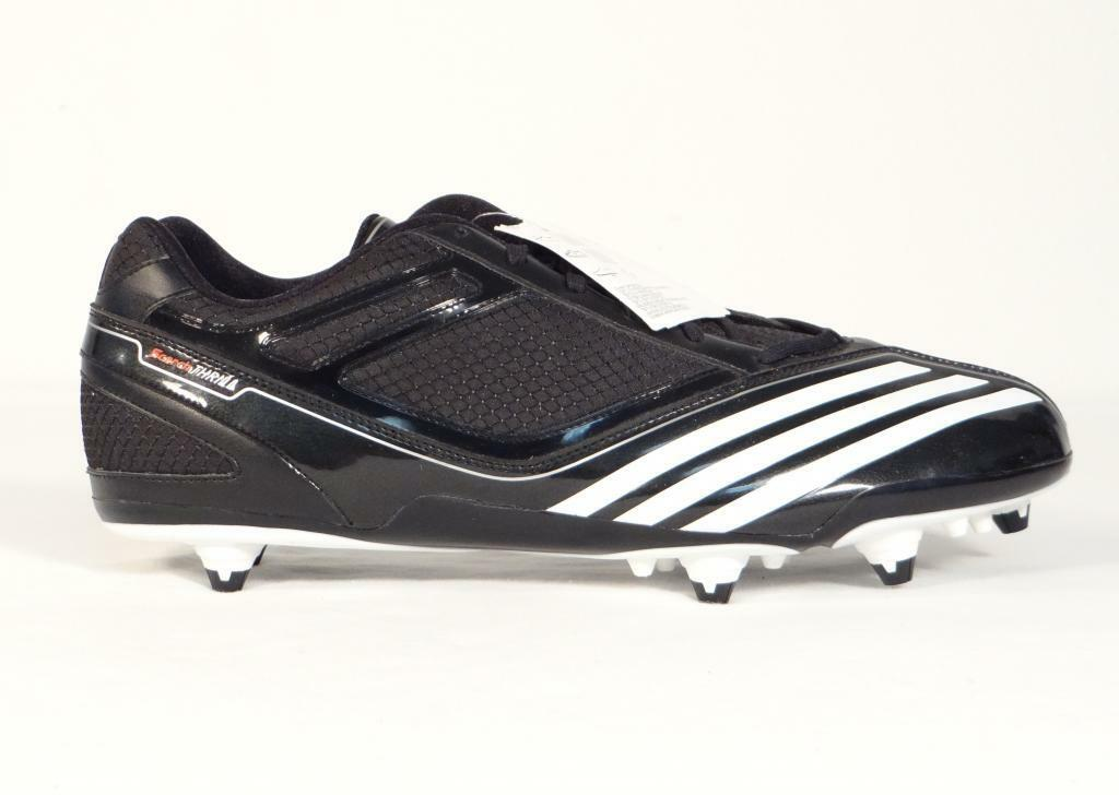 Adidas Scorch Thrill D Low Black & White Football Cleats shoes Mens NWT