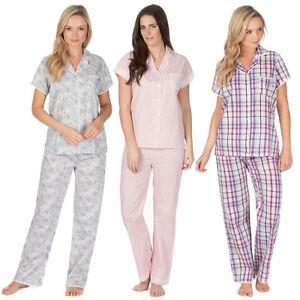 5cc453b0e8 Ladies   Womens Woven 100% Cotton Pyjamas   Pyjama Top and Bottoms ...