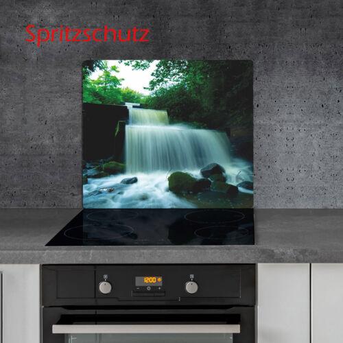 Herdabdeckplatten 60x52 cm Ceranfeld Abdeckung Glas Spritzschutz Küche Natur