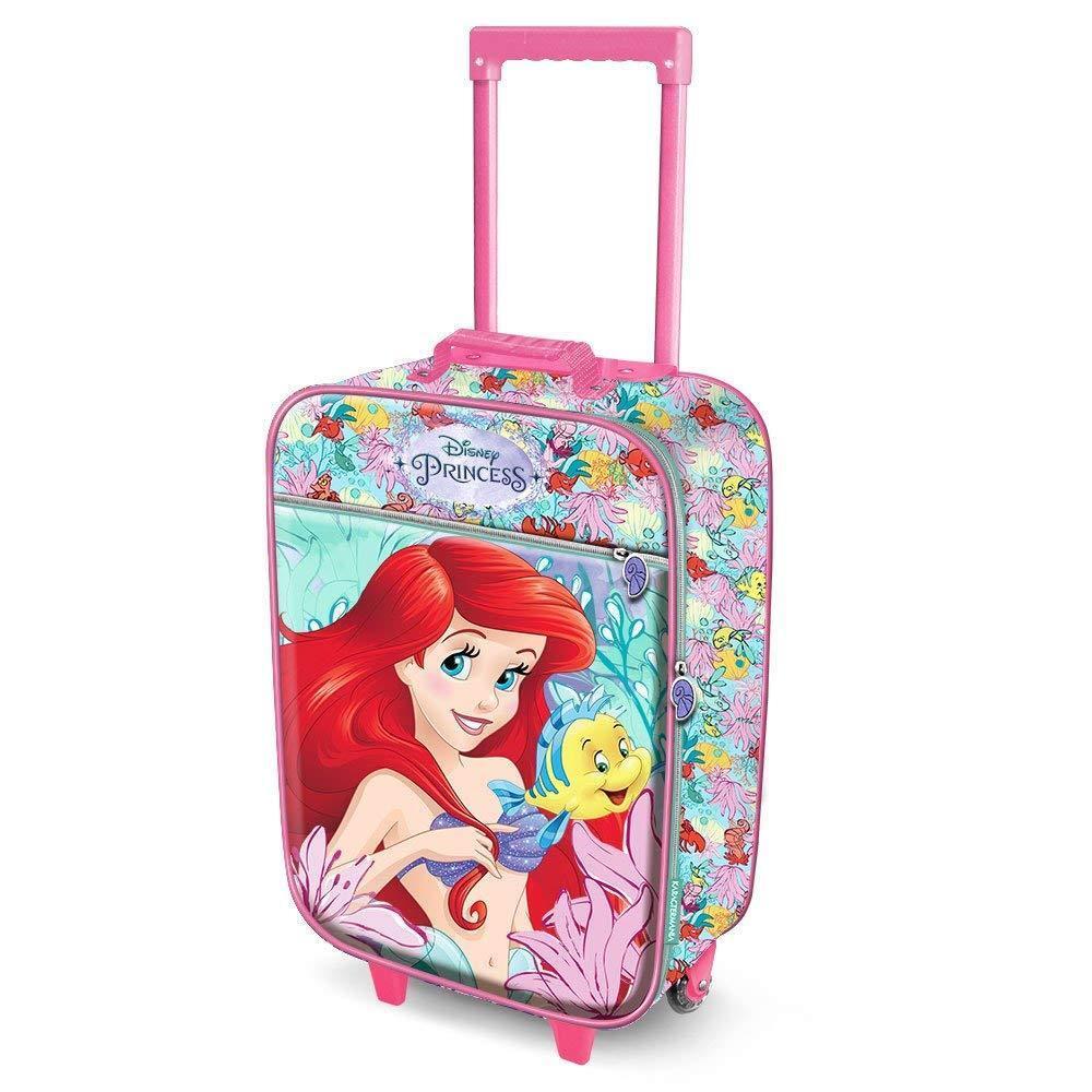 Trolley Soft 3D Ariel 37373796 52 cm bambina sirenetta viaggio valigia vacanze