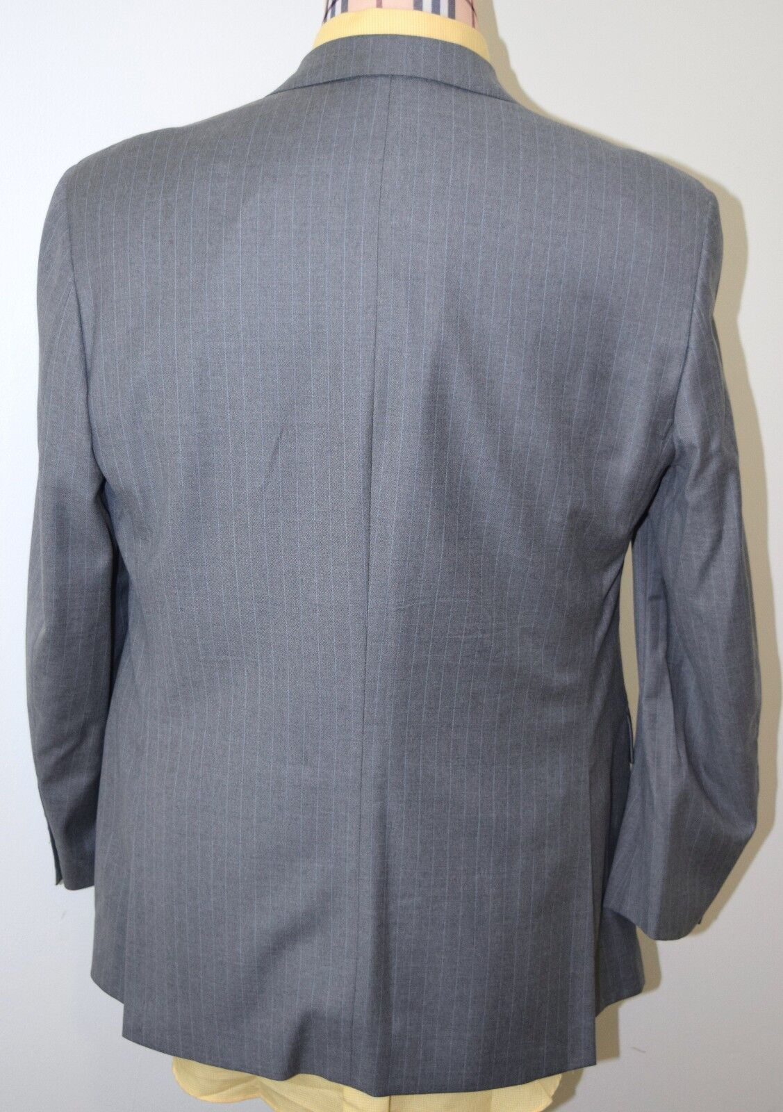 Brooks Brothers Sport Cappotto 42r Gris Pinstriped Pinstriped Pinstriped LORO PIANA SUPER 110's c490d6