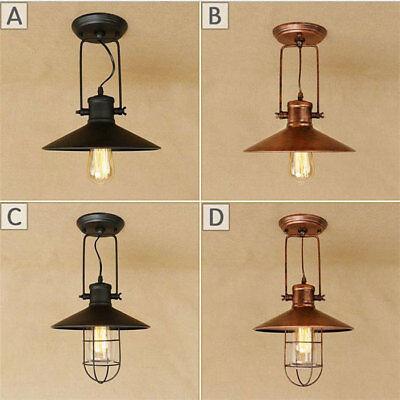 online store 56980 10350 Loft Antique Ceiling Light Black rust lamp Home Decoration flush mount  Lighting | eBay